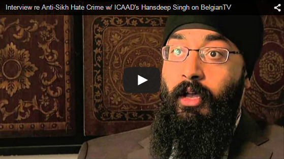 Interview re Anti-Sikh Hate Crime on BelgianTV