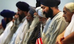 Despite being American citizens, Sikhs have become the target of hate crime in the US and have been routinely attacked. Photograph: Ryan Donnell/AP